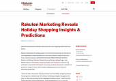 Rakuten Marketing Reveals Holiday Shopping Insights & Predictions | Rakuten Marketing