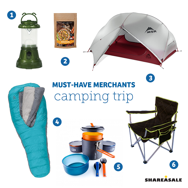 Must-Have-Merchants: Camping Trip