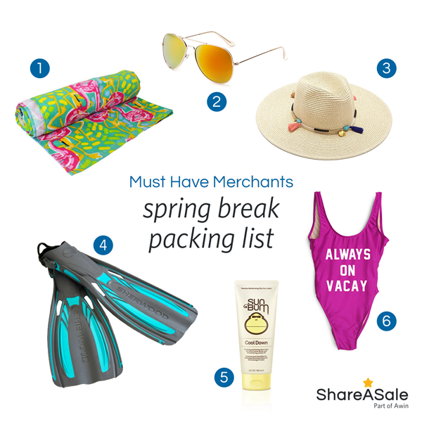 Must-Have Merchants: Spring Break Packing Essentials