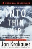 Into Thin Air: A Personal Account of the Mount Everest Disaster by Jon Krakauer, Knopf Doubleday Publishing Group | NOOK Book (eBook), Paperback, Hardcover, Audiobook
