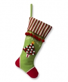 Green Tree Christmas Stocking
