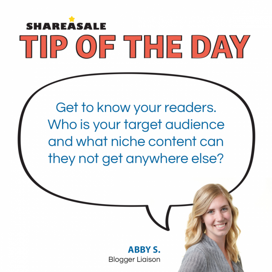 Tip of the Day: Know Your Readers! - ShareASale Blog