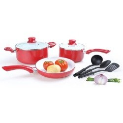 Red cookware sets for the kitchen for Alpine cuisine cookware