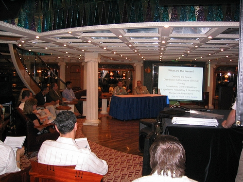 Learning session right on the ship