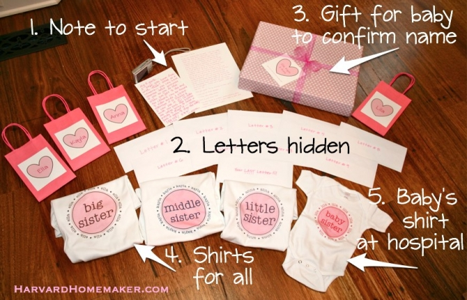 Baby Name Reveal Scavenger Hunt Create A Special Memory SaveEnlarge Gift Ideas
