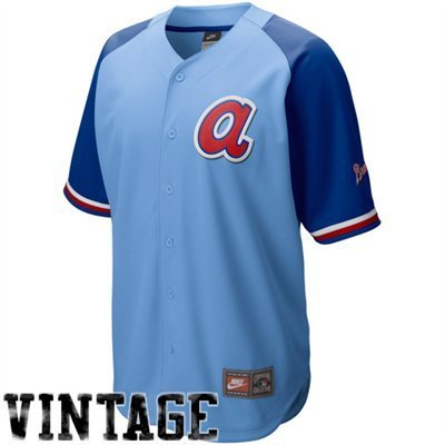 super popular d2310 d2d33 Nike Atlanta Braves Light Blue-Royal Blue Cooperstown Quick ...