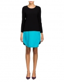 Combo Crew Neck Tunic Dress | Cynthia Rowley