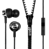 Tangle Free, Noise-Canceling Earbuds, With Mic | Zipbuds
