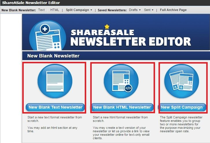 How To Create and Send ShareASale Affiliate Newsletters