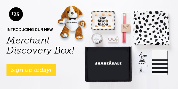 Affiliates: Get Your ShareASale Merchant Discovery Box!