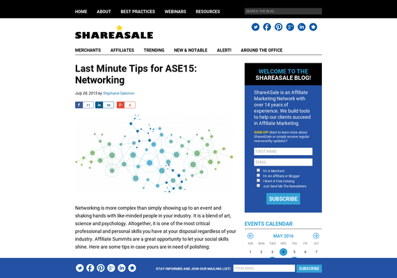 Last Minute Tips for ASE15: Networking - ShareASale Blog