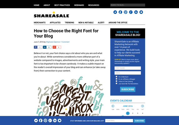 How to Choose the Right Font for Your Blog - ShareASale Blog