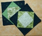 Easy Quilted Potholders From Leftover Blocks