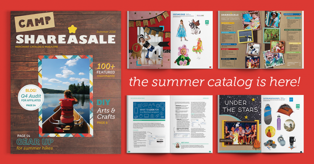 ShareASale Summer 2016 catalog released!