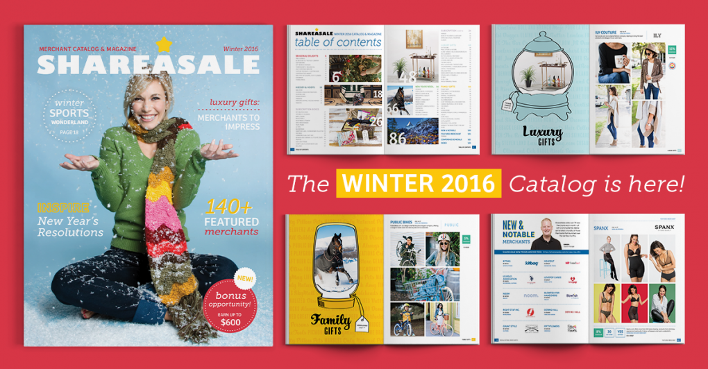 ShareASale 2016 Winter Catalog Released!