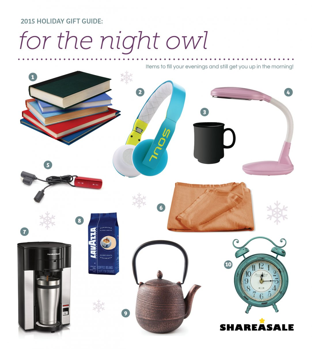 GiftGuides: Gifts for the Night Owl - ShareASale Blog