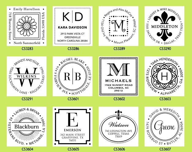 giveaway  win a personalized address stamper from wishingtreedesigns com  expired