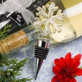 2. Glass Snowflake Wine Bottle Stopper