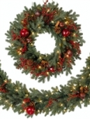 Heritage Spice Artificial Christmas Wreath And Garland