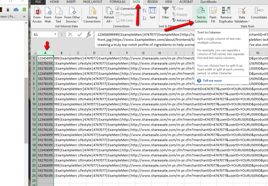 How To View A Pipe Delimited Text File In Excel Shareasale Blog