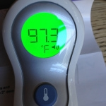 Taking Temperatures with a No Touch Forehead Thermometer | Capability : Mom