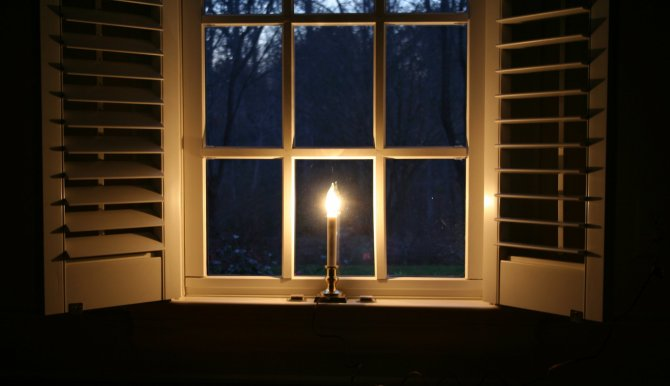 Christmas Candles For Windows With Timers