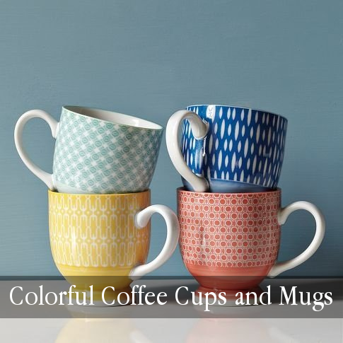 Cool Kitchen Stuff Colorful Coffee Cups And Mugs