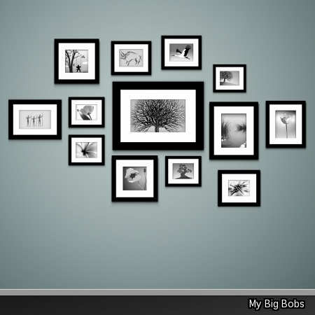 What s the best way to arrange pictures on a wall my - Arranging pictures on a wall ...