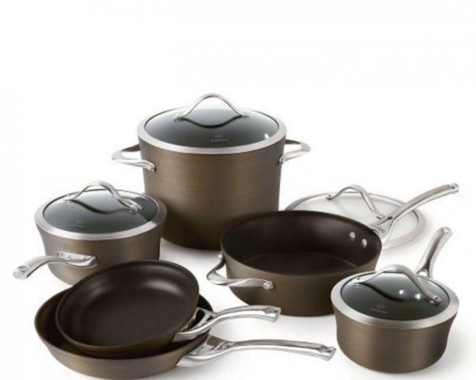Bronze Calphalon Cookware Sets