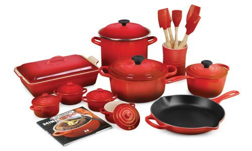 Cool Kitchen Stuff Le Creuset Cherry Red 20 Piece