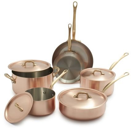 Cool Kitchen Stuff: Mauviel M\'brushed Copper 10-Piece Cookware Set