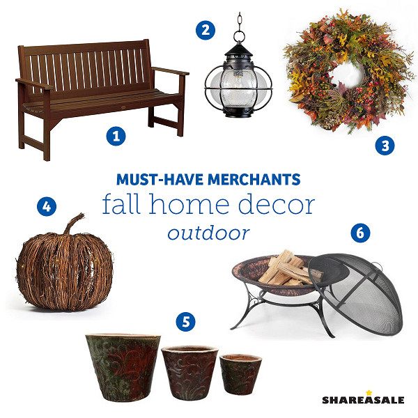 fall home decor sale must merchants fall outdoor home decor shareasale 10851
