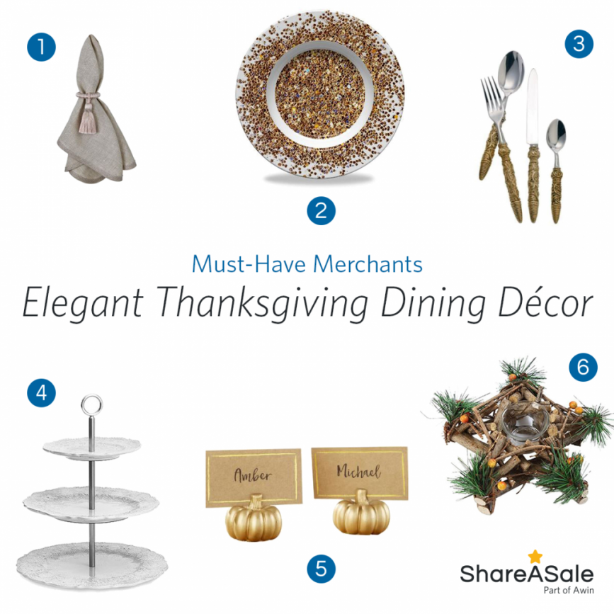 Must-Have Merchants: Elegant Thanksgiving Dining Décor