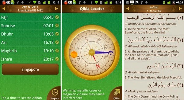 New app calculates prayer times, mosque and halal food location
