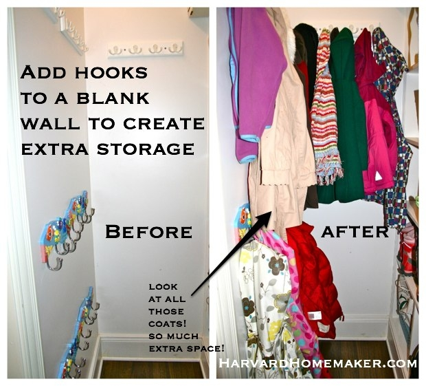 So I Added Hook Racks All Over. This Has Been So Helpful! Maybe You Have  Some Space Somewhere, Too, That You Can Make Useful!