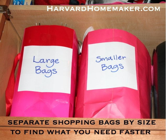 Organize Shopping Bags By Size
