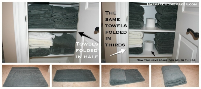 Ideas To Help Organize Your Home And Your Life Harvard - Ways to hang towels for small bathroom ideas