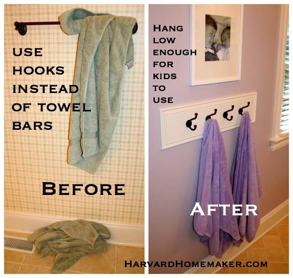 Hang Hooks Behind Door For Robes And Towels
