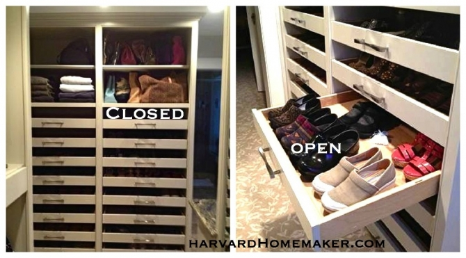 Install Shoe Drawers In Closet