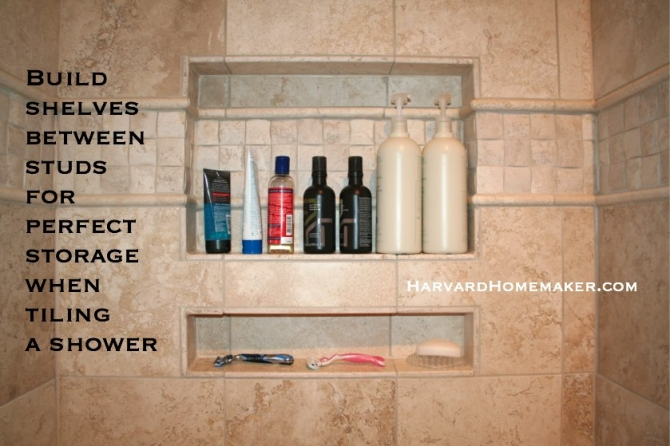 Build Shelves Into Shower Tile