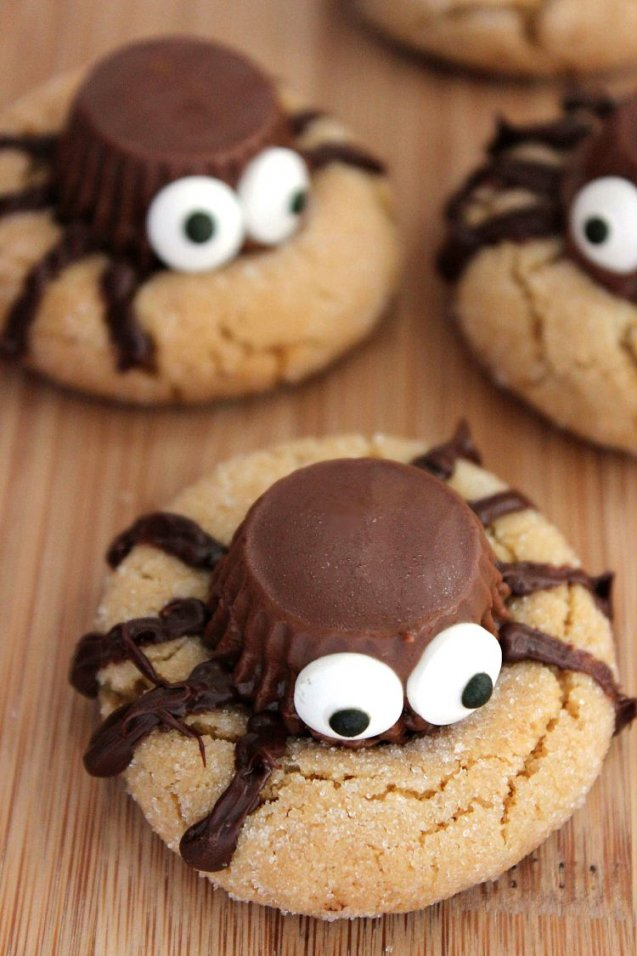 Halloween Peanut Butter Spider Cookies Recipe - Mommy Musings