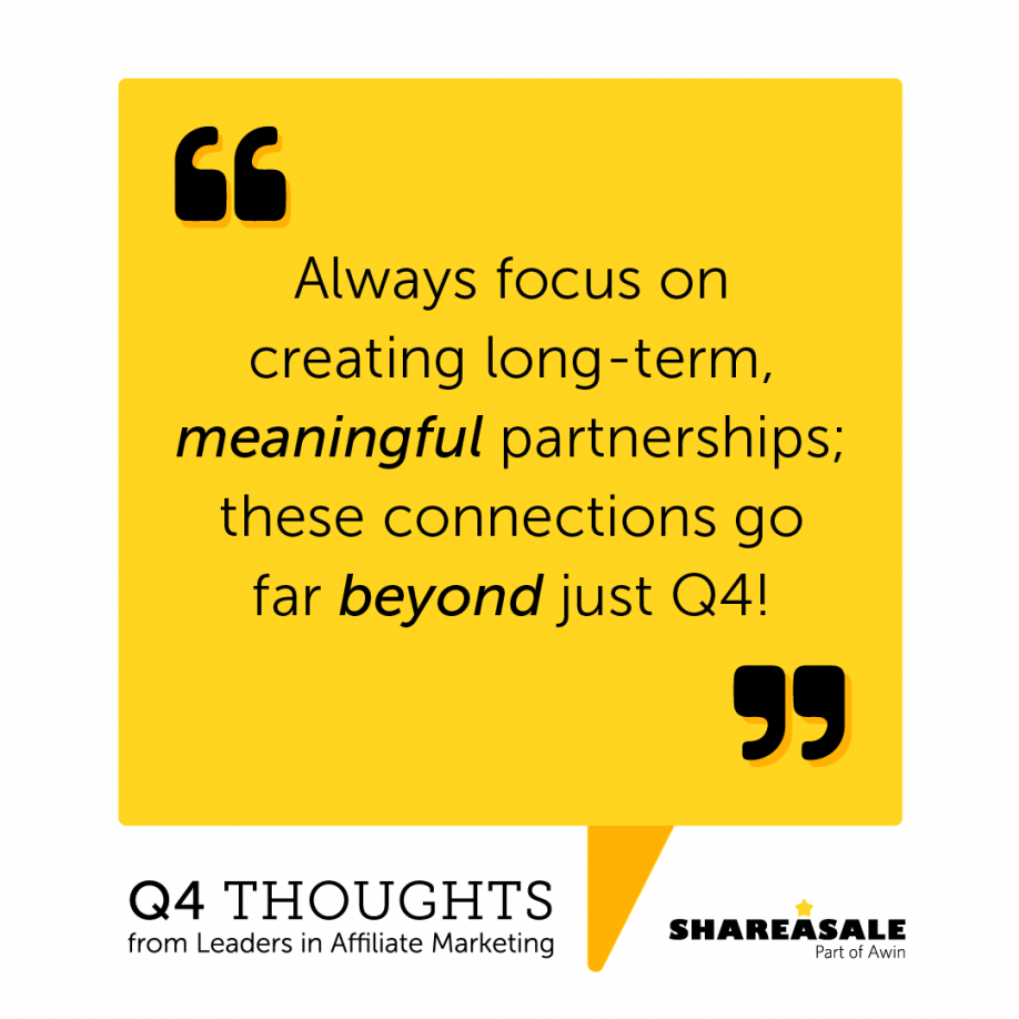 Q4 Thoughts: Focus on Creating Meaningful Connection