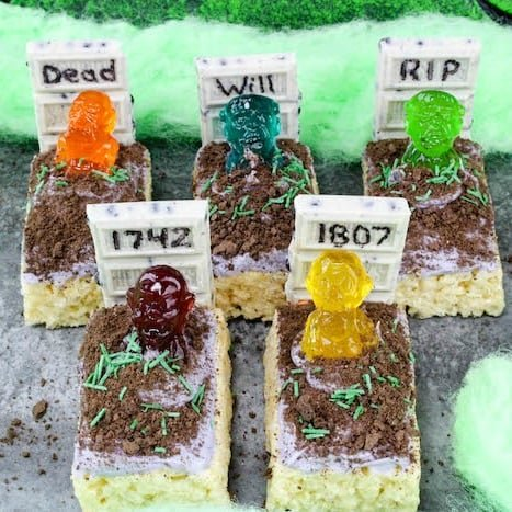 Rice Krispie Treats Zombie Graveyard - Princess Pinky Girl