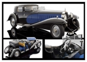 1930 Bugatti Royale Coupe de Ville Car Model