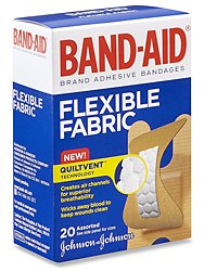 Band-Aid® Fabric Knuckle/Fingertip Bandages