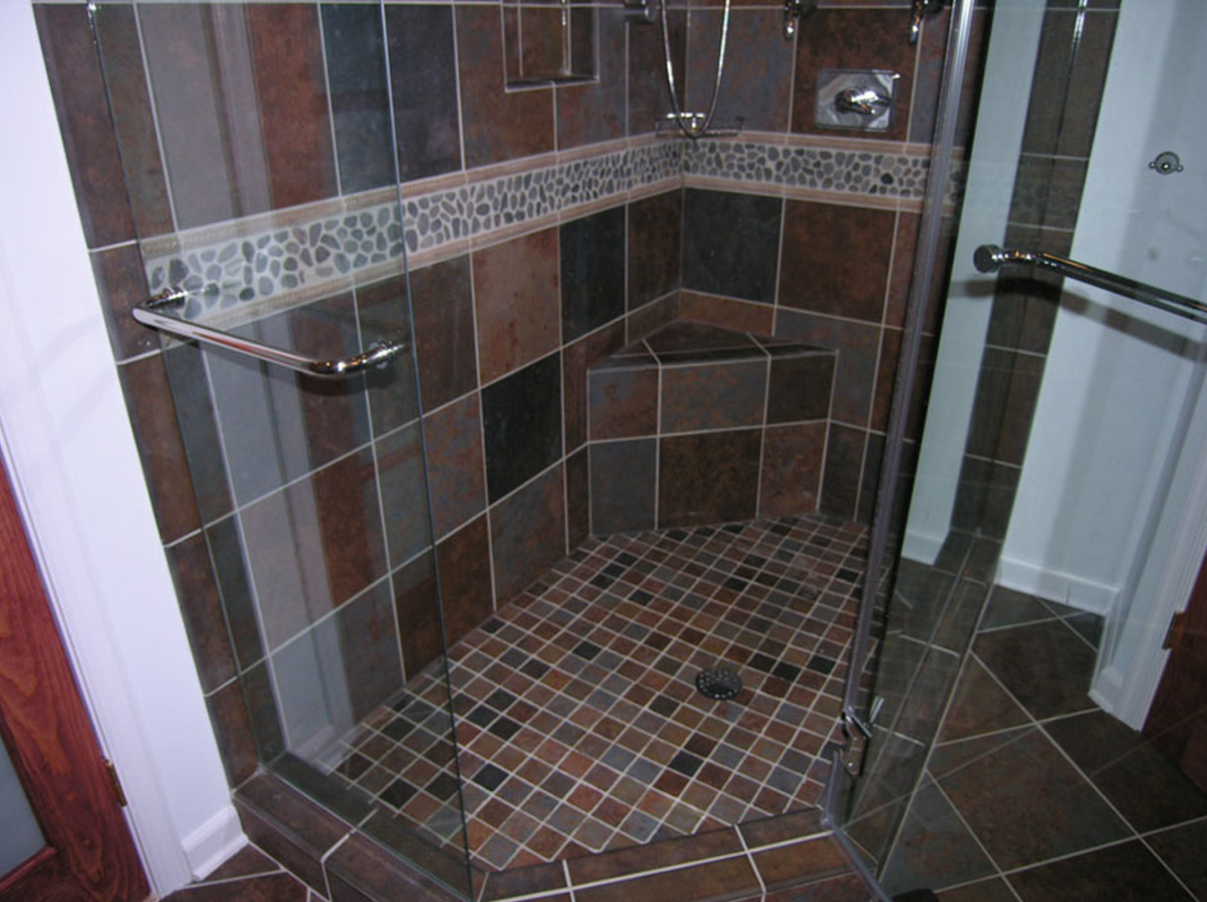 bathroom tile border height the best height to install shower accent tiles conestoga 16719