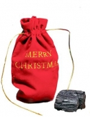 Lump Of Coal in Christmas Pouch | Totally Costumes