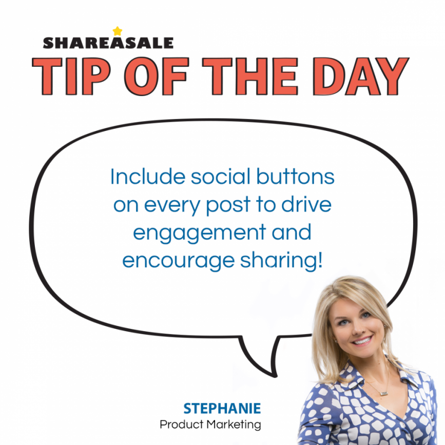 "Tip of the Day: Use ""Share"" Buttons! - ShareASale Blog"