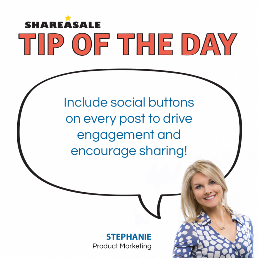 "Tip of the Day: Use ""Share"" Buttons!"