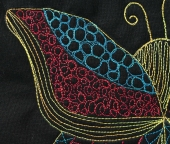Stitching The Enlarged Butterfly | Quilts By Jen